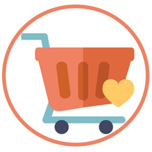 E-commerce, carrito de diseño de tiendas online