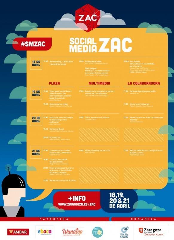 Programa del evento Social Media ZAC