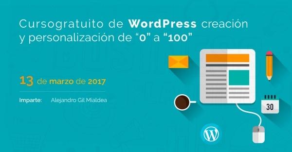 Curso Gratis de WordPress creación y personalización de 0 a 100