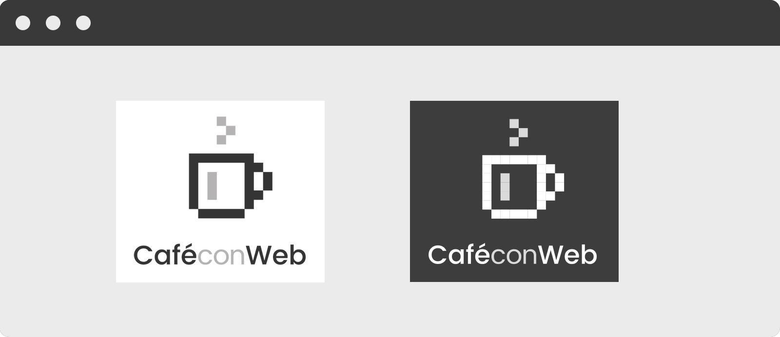 Nuevo Logotipo de Café con Web en sus versiones verticales.