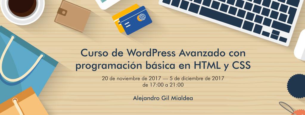 Curso de WordPress Avanzado con programación básica en HTML y CSS