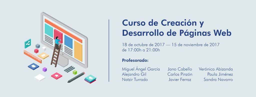 Curso de Creación y Desarrollo de Páginas Web